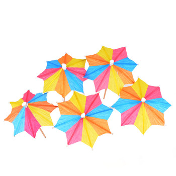 octagonal parasol party wood pick 100mm