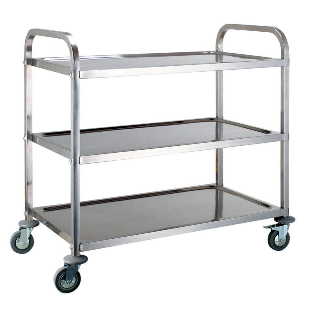 3 Tier Stainless Steel Kitchen Dining Trolley Serving