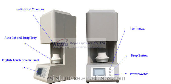 Graphic Display Cad Cam Dental Furnace Zirconia Bridge