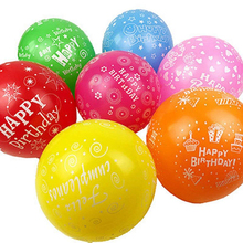 12 zoll Farbe Sortiert Party happy birthday Balloons 100 Pcs <span class=keywords><strong>China</strong></span> VERKÄUFER