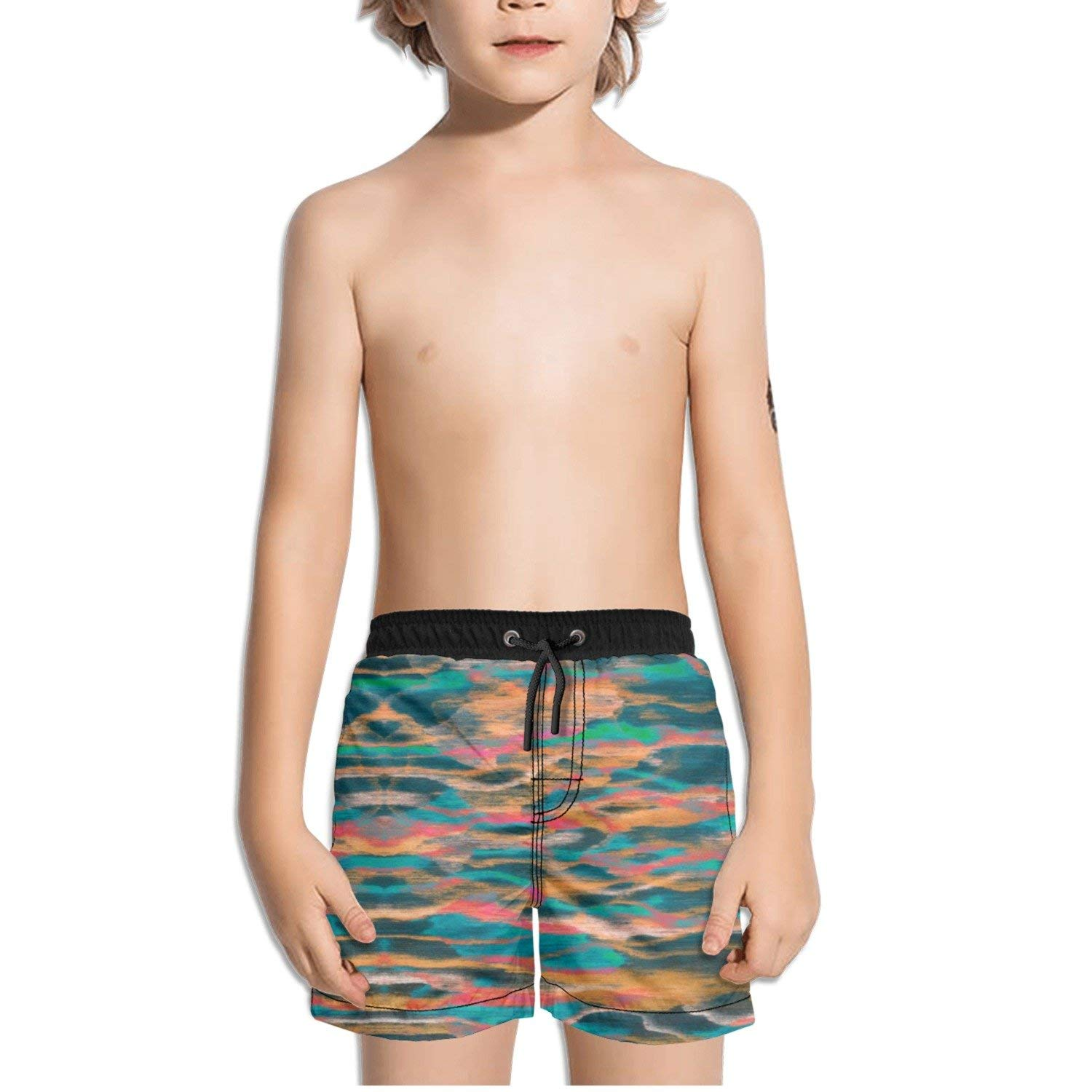 ZAPAGE Men Quick Dry Boardshorts Lotus Turquoise Surf Shorts With Pockets