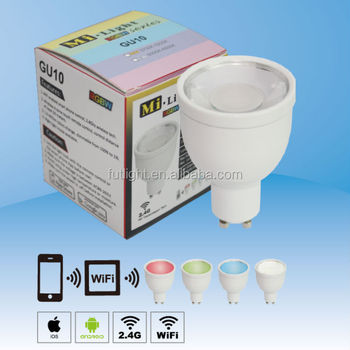Fut015 Color Changing Rgb Led Smart Bulb Light With Home Wifi ...