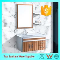 Hotel Metal Bathroom Vanity Base with Ceramic Basin