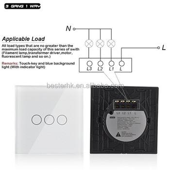 3 gang 1 way remote touch switchwall switchmake good touch light 3 gang 1 way remote touch switchwall switch make good touch light switch mozeypictures Gallery
