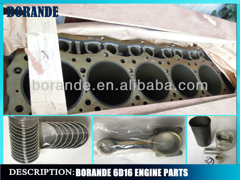 Mitsubishi engine parts 6D16 cylinder liner kit