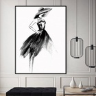 painting canvas girl portrait wall art abstract painting print picture
