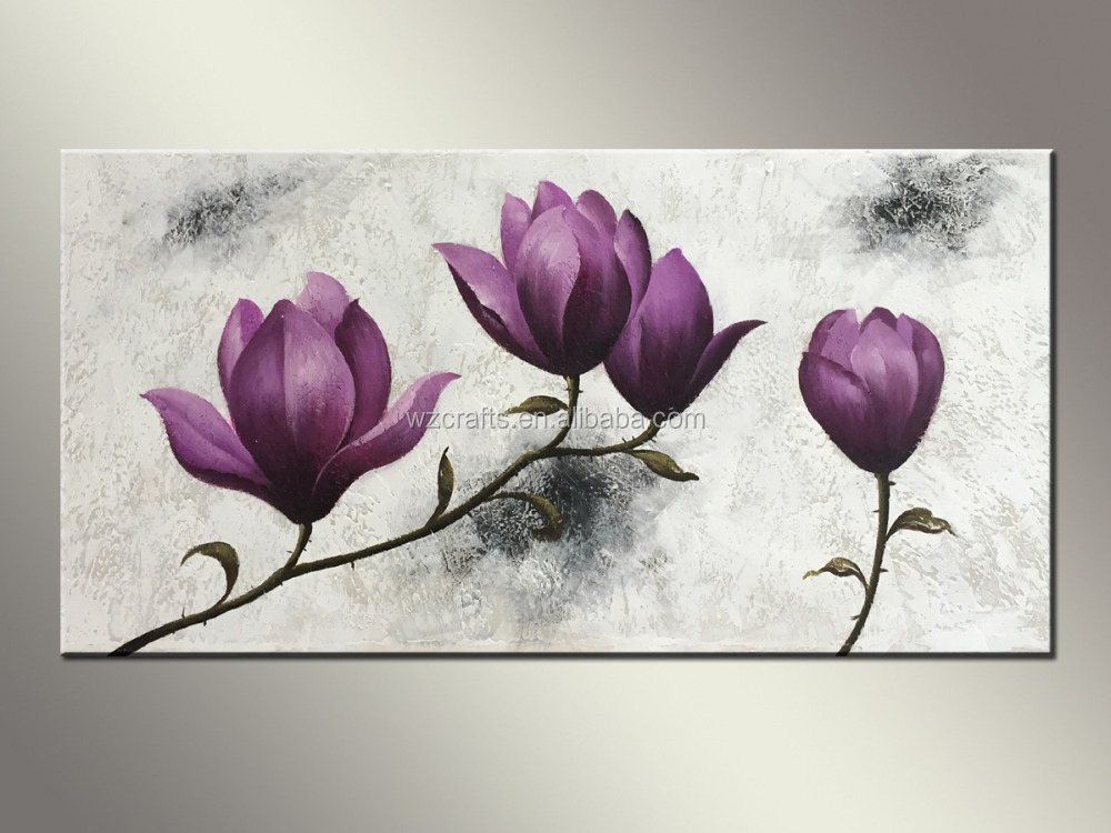 Painting For Bedroom beautiful canvas abstract flower oil painting for bedroom