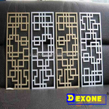 Cnc carved indoor decoration aluminium panels as screen for Aluminium decoration