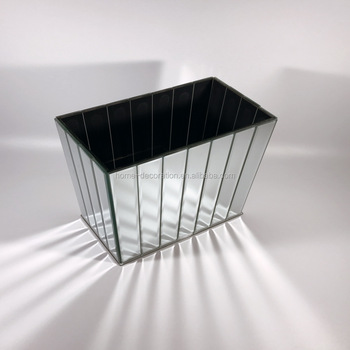 Long Rectangular Mirror Bubble Cube Vase Hire Uk Buy Long