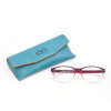 Wholesale contracted target soft shell fabrica mens glasses case with emboeesd logo