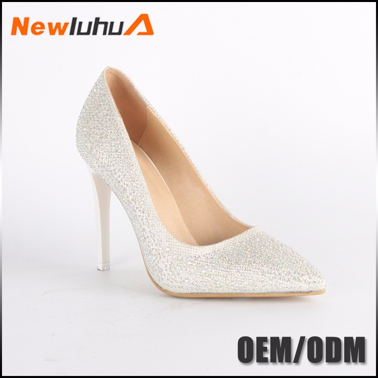 China factory custom pu pumps shoes women