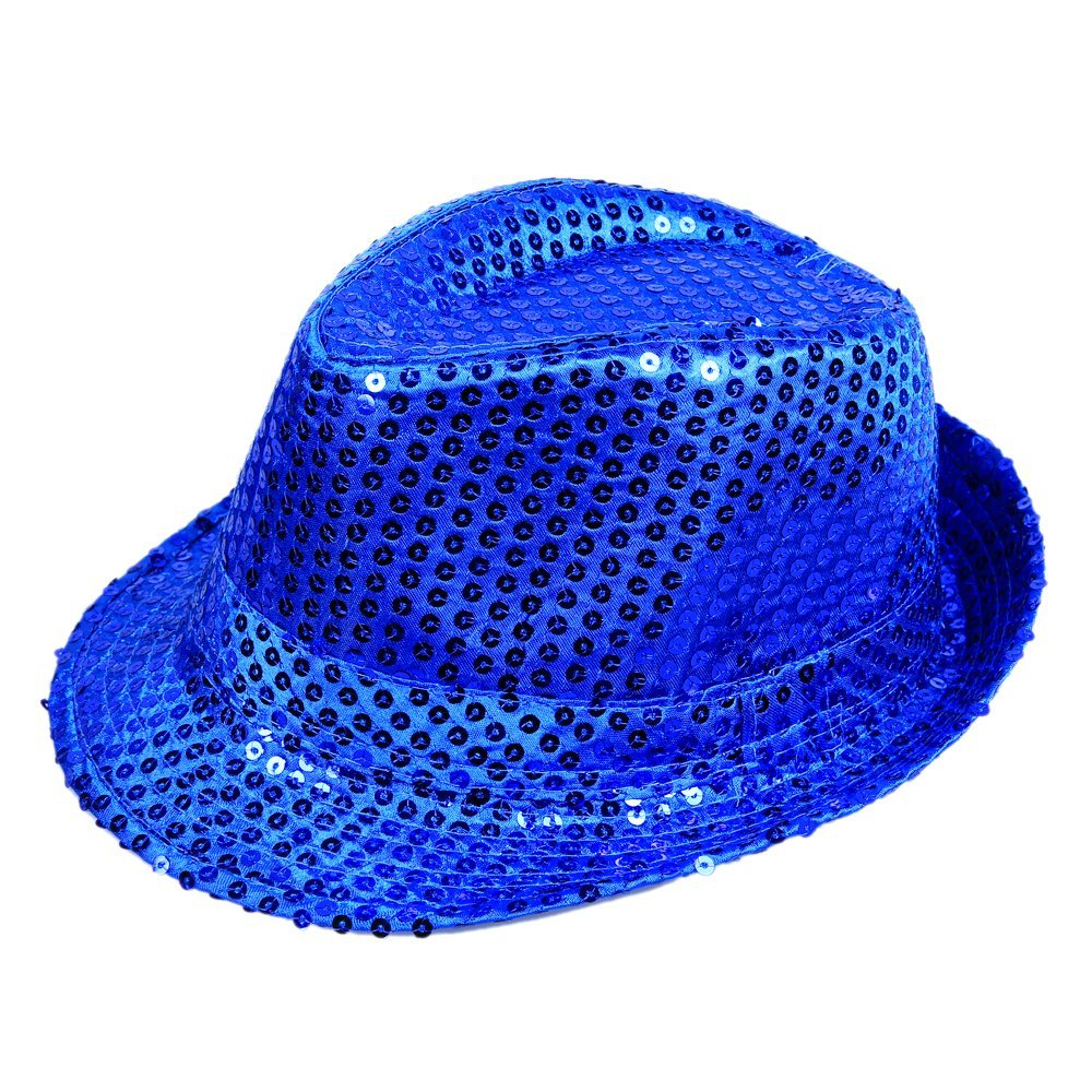 Get Quotations · Anleolife Color Sequins Fedora Hat Bling Bling Kids Fedora  Trilby Hat Baby Boys Girls Sequins b0a396faee6c