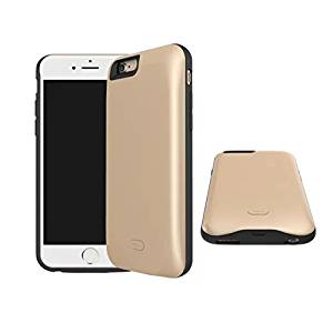 FILIWI iPhone6 Battery Case-Half Pack 5200mah Battery Backup External Charger Case Cell Phone Cover for iPhone6/6s Battery Case Silicon (Gold)