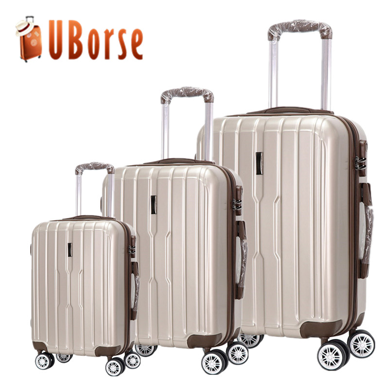 Valise shell Dur abs bagages, bagages de chariot de voyage