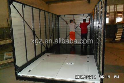 Collapsible container warehouse folding storage shed