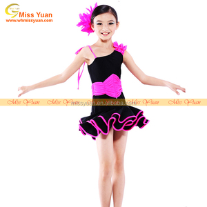 Red black traditional chinese dress kids/western dance costumes/chinese fan dance costume