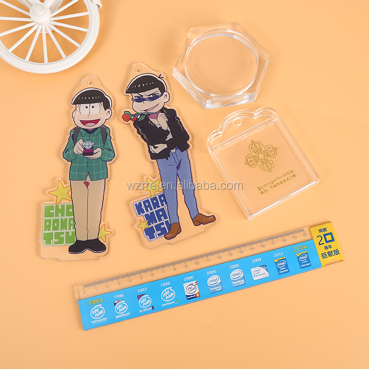 Cheap Soft Promotion Custom Made anime Character Rubber PVC color metal keychain