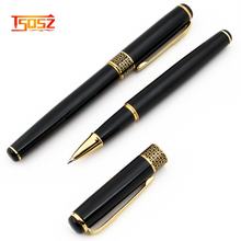 Buiness Gifts ball point pen custom logo and black hotel pen gold