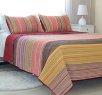 2015 Wholesale indian patchwork quilted bedspreads/plush bedspread king size from china supplier