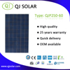 QJ solar panel manufacturer with tuv/ce