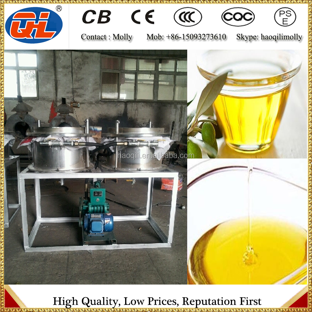 purifying used cooking oil