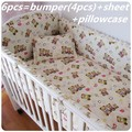 Promotion 6 7PCS Bear Hot Crib Set Bedding Sets Baby Cribs Cot Bedding for Girls 120