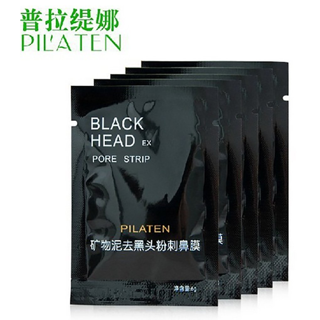 Memay PILATEN Face Care tool Facial Minerals Conk Nose Blackhead Remover Mask Tool Pore Cleanser Black Head EX Pore Cream, 6g, 10pcs