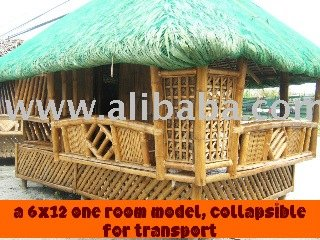 Authentic 100 Philippine Bamboo Nipa Hut Tiki Hut Bahay Kubo View Tiki Hut Product Details From Exomod Lighting Designs On Alibabacom