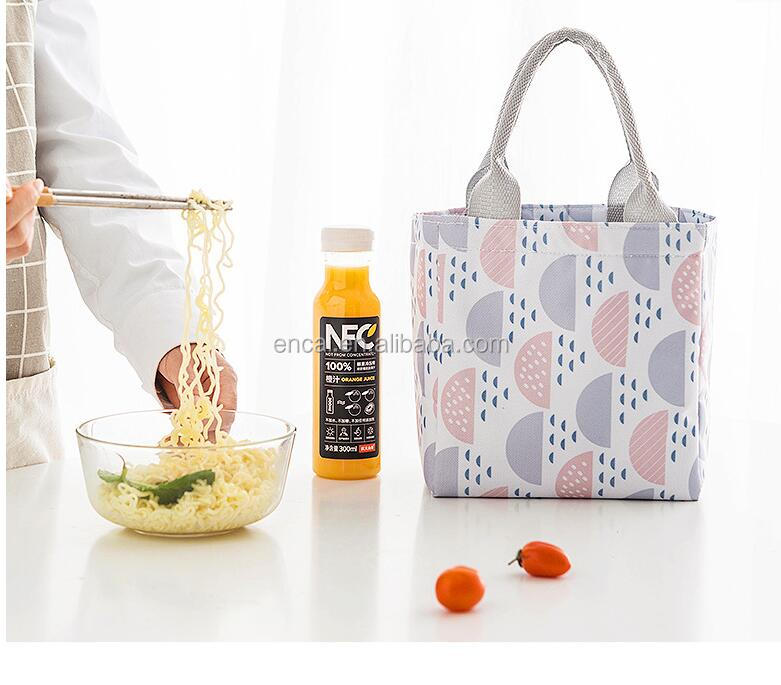 Encai Insulated Fashion Printing Picnic Cooler Bag Lunch Bag