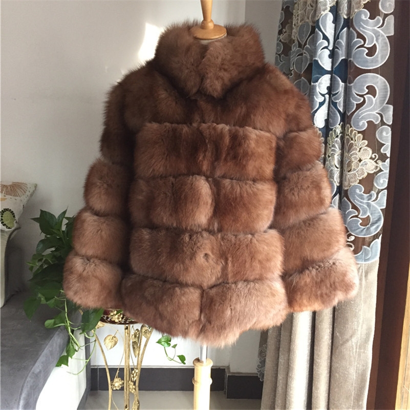 Hollywood Style warm sable Color real Fur coats outerwear famous real fur coats