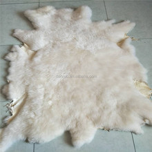 Genuine salted raw sheep skin White Dyed American sheep skin for snow shoes Double Face Sheep Skin Fur Plate Pelt