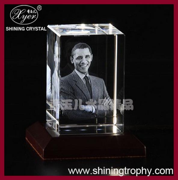 Customized Crystal Glass 3d Laser Souvenir,Crystal Glass Photo Frame ...