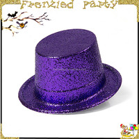 customize print LOGO plastic glitter party hat