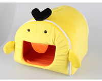 2017 new products chinese cartoon duck animal shape pet kennels dog beds for dogs