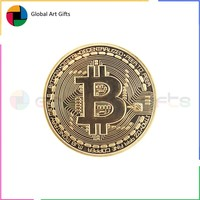 Custom made metal souvenir gold replica copy bitcoin coin