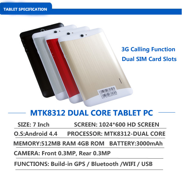Android 3g Phablet 7 Inch Mtk8312 Kitkat For Tablets