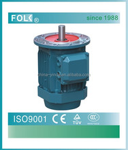 3-phase motor, aluminum body motor with flange, vertical mounted