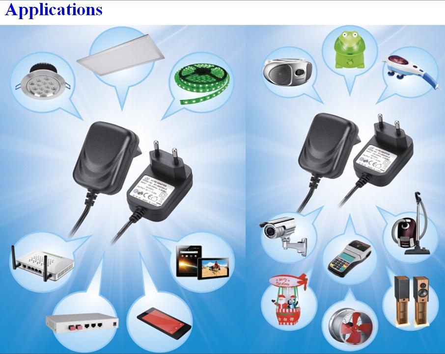 China Supplier Usa Plug Dc Output Type 12v 1200ma Ac Adapter