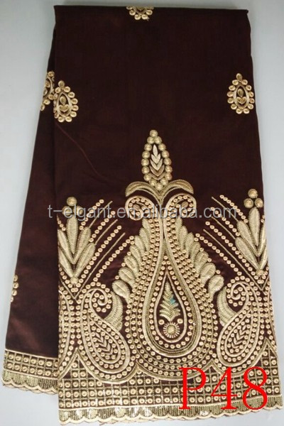Unique african george fabric from india manufacturer lace for clothing