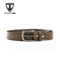 Fashion Custom Belt Genuine Leather Men Belts Luxury Ostrich Skin Belt Manufacturers