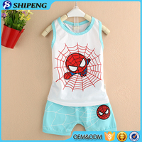 New style boutique baby boys children clothes sets top and shorts wholesale