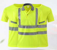 Reflective Safety Clothing EN ISO 20471 high visibility safety polo shirt