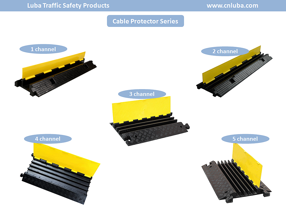 Industrial Products 5 Channel Rubber Cable Protector