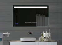 Modern Hotel Decorative Led Infinity Mirror Bathroom With Button ...