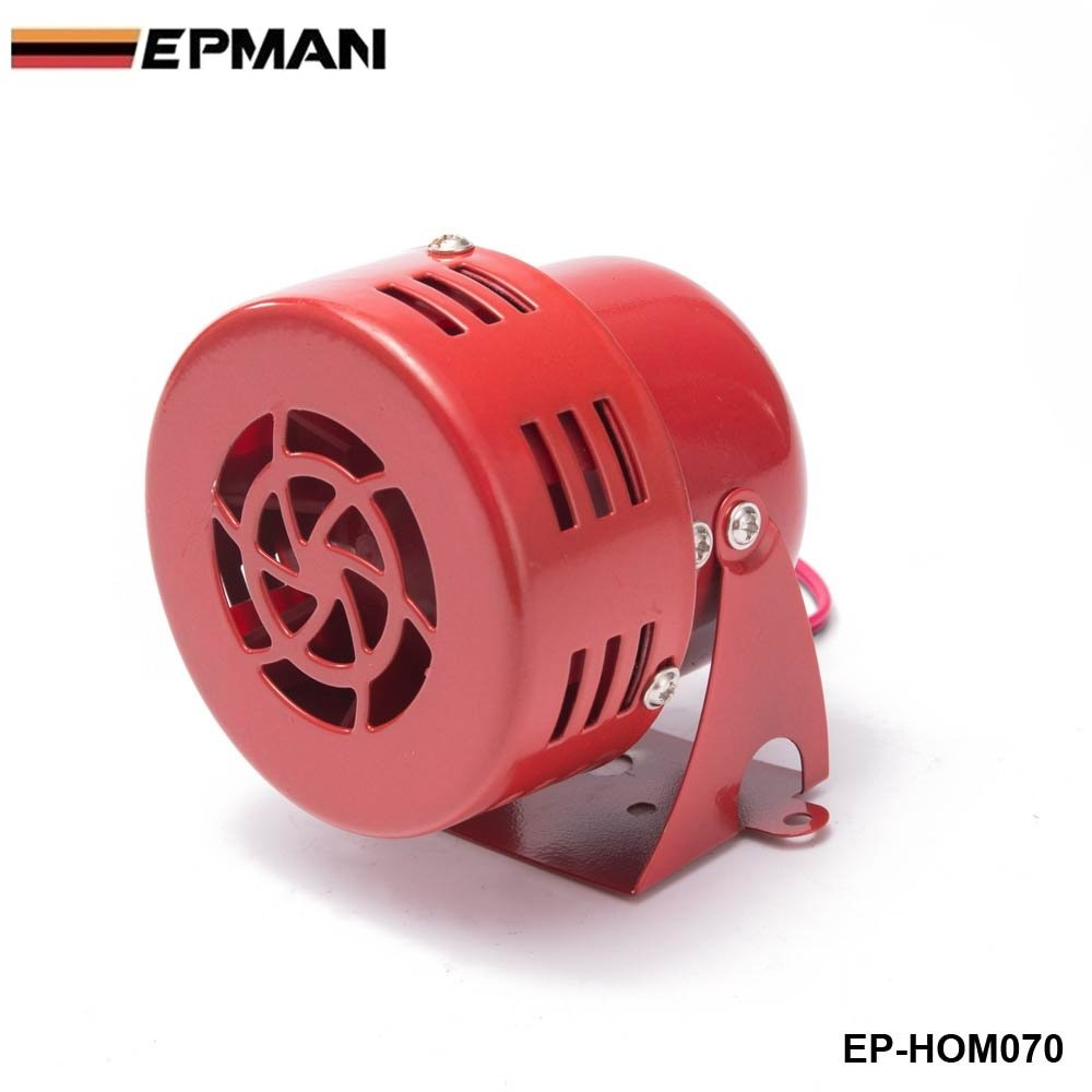uxcell Universal Motorcycle Red Snail Style Siren Electric Horn 510Hz 110dB