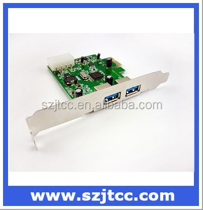 PCI Express to USB 3.0 Card Host Adapter Two Port PCI-E USB 3.0 Card