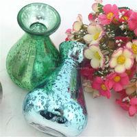 TALL GREEN GLASS BUD VASE