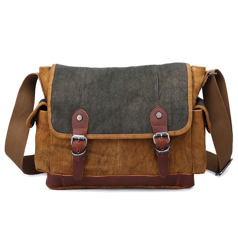 e0ca549e53e5 Get Quotations · American high quality men messenger bags fashion retro  vintage canvas crossbody bag for men shoulder bags