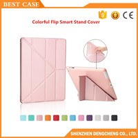 Ultra Thin Stand Design PU Leather case for ipad 3 4 2 Cover Colorful Flip Smart Cover for iPad 9.7 Pro Table Case