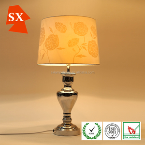 halogen light covers cream silk cone shaped tapered desk lampshade